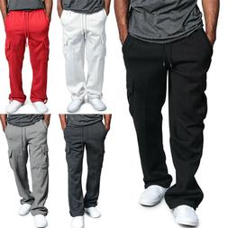 USA MENS CASUAL CARGO SWEATPANTS FITNESS CARGO PANTS COMFY H