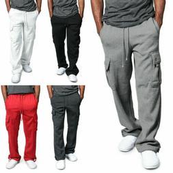 ❤️ Men Jogger Heavy Weight Fleece Cargo Pocket Sweat Pan
