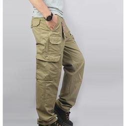 Men Loose <font><b>Pants</b></font> Cotton Length <font><b>C