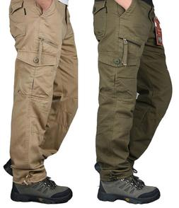 Men Military Army Combat Trousers Work Cargo Pants Casual Wa