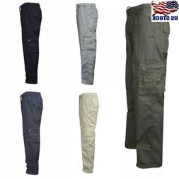 Men Military Army Combat Trousers Work Cargo Pants Walking M