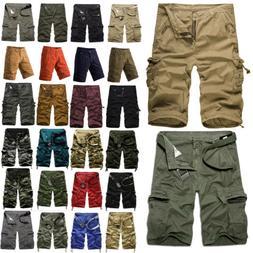 Men Military Combat Camo Cargo Shorts Pants Urban Casual Arm