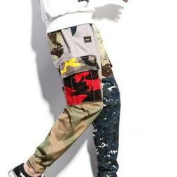 Men Overalls Cargo Pants Cotton Blend Camouflage All-match K