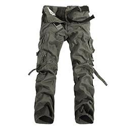 WSLCN Men's Relaxed Casual Cargo Pants Outdoors Work Wear Ut