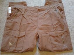 Parish Men's 100% Cotton Cargo Khaki Brown Zipper Pockets Si