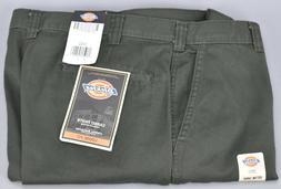 Dickies Men's 23214 Loose Fit Cotton Cargo Work Pants Olive