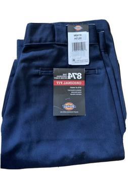 Men's 32 x 34 Dickies 874 Original Fit Work Pants Navy Blue
