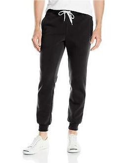 Southpole Men's Active Basic Jogger Fleece Pants, Black New,