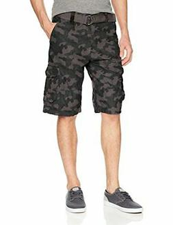 Southpole Men's All-Season Belted Ripstop Basic Cargo Shorts