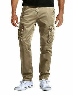 Match Men's Athletic-Fit Cargo Pant 6057 Khaki 29