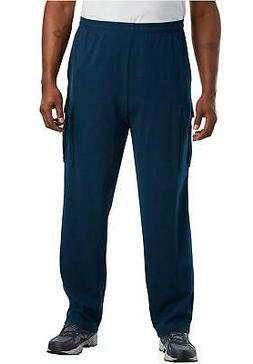 KingSize Men's Big & Tall Jersey Knit Cargo, Navy , Size XX-
