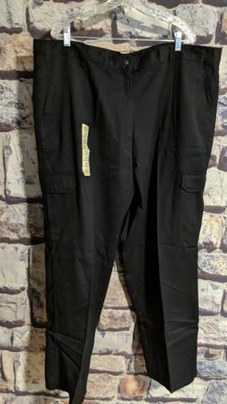 MEN'S DICKIES BLACK LOOSE FIT COTTON CARGO PANTS SIZE 46 x 3