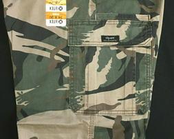 Men's Wrangler Camo Cargo Pants w FLEX Relaxed Fit Tech Pock