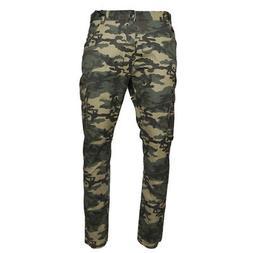 Men's Cargo Camo Pants Multi Pocket Lightweight Cotton Spand