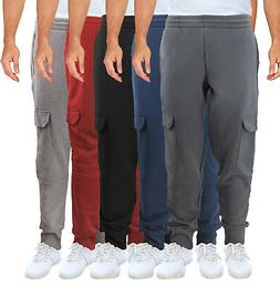 Men's Cargo Jogger Pants Casual Workout Sport Gym Fitness Fl