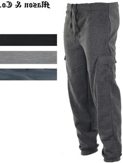 Men's Cargo Jogger Sweatpants Fleece Sweat pants Casual Comf
