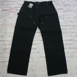 Carhartt Men's Cargo Pants Size 34X32 Black Work Pants Doubl