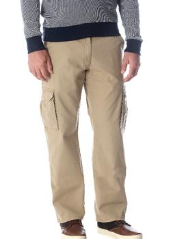 Men's Wrangler Cargo Pants w Flex Khaki Relaxed Fit Tech Poc