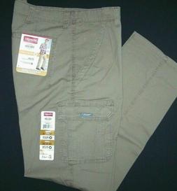 Men's Wrangler Cargo Pants w Flex Relaxed Fit Tech Pocket Ba