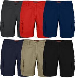 Men's Cargo Shorts 6 Pocket Combat Flat Front Chino Half Pan