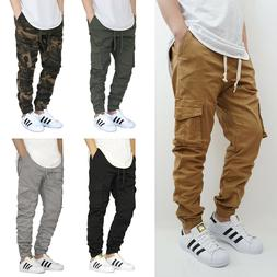 MEN'S CARGO TWILL STRETCH JOGGER PANTS  5 COLORS * VICTORIOU