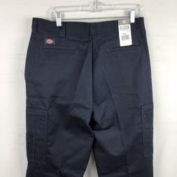 Dickies Men's Cargo Work Pants Size 34x32 Navy blue NWT