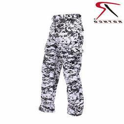 Men's City Digital Camo BDU Cargo Pants - Black & White Camo