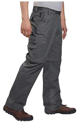 BC Clothing Men's Convertible Cargo Hiking Pants Shorts- Cha