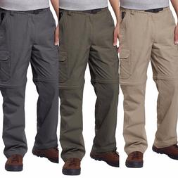 BC Clothing Men's Convertible Cargo Pants/Shorts with Stretc