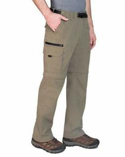 BC Clothing Men's Convertible Stretch Cargo Pant/Shorts Sand