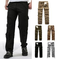 Men's Cotton Cargo Pants Combat Camouflage Camo Army Style T