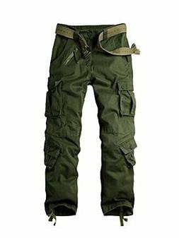 OCHENTA Men's Cotton Casual Military Army Camo Combat Trouse