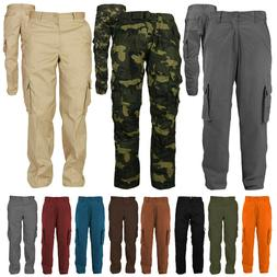 Men's Cotton Casual Tactical Utility Multi Pocket Cargo Mili