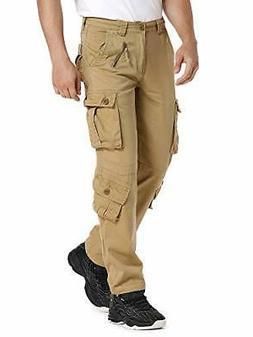Jessie Kidden Men's Cotton Military Cargo Pants, 8 Pockets C