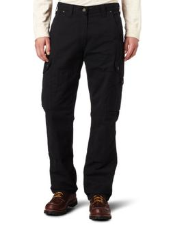 Carhartt Men's Cotton Ripstop Relaxed Fit Work Pant,Black,32
