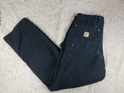 Men's Carhartt Double Knee Cargo Pants Workwear Size 33×32