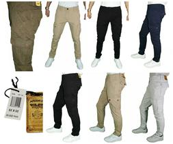 Men's PJ Mark Fashion Skinny Slim Fit Stretched Cargo Pants