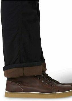 Wrangler Authentics Men's Fleece Lined Cargo Pant, Black, Si