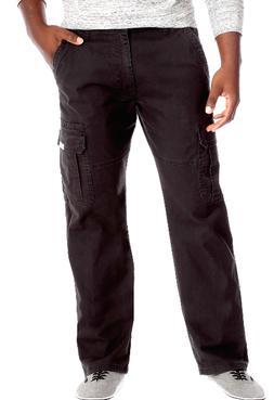 Men's Wrangler FLEX Cargo Pants Relaxed Fit Flat Front Tech