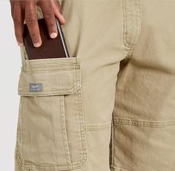 Men Wrangler Flex Cargo Pants Relaxed Fit Tech Pocket 34 36