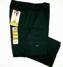 Men's Wrangler FLEX Cargo Pants Relaxed Fit Black 34 36 38 4