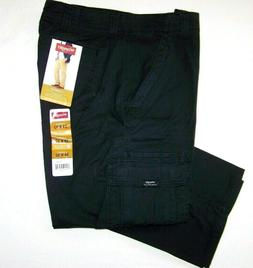 Men's Wrangler FLEX Cargo Pants Relaxed Fit Black Tech Pocke