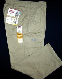 Wrangler FLEX Cargo Pants Khaki Relaxed Fit w/ Tech Pocket 3