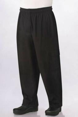 Chef Works Men's J54 Cargo Chef Pants, Black, 3X-Large . big