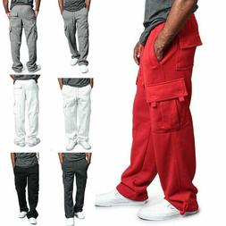 Men's Jogger Heavy Weight Fleece Cargo Pocket Sweat Pants Ca