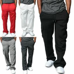 Men's Jogger Trousers Heavy Weight Fleece Cargo Pocket Sweat