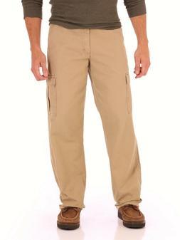 Wrangler Men's Khaki Cargo Pockets w/Tech Pocket Relaxed Fit