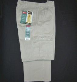 Men's Wrangler Khaki Legacy Cargo Pant Relaxed Fit Tech Pock