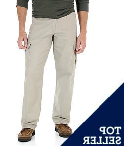 Men's Wrangler Legacy Cargo Pants Relaxed Fit Khaki 100% Cot