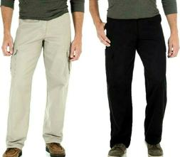 Men's Wrangler Legacy Cargo Pants Relaxed Fit Black -OR- Kha